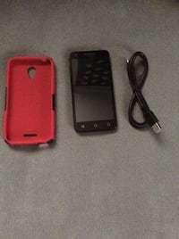 Black android smartphone with red case(att) Pensacola, 32506