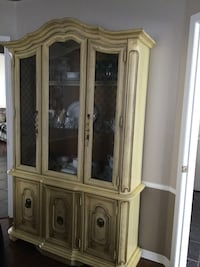 Solid wood walnut table and hutch with Four chairs/ see details below  Ottawa, K2G 6V6