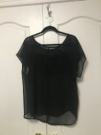 Sheer Black Shirt with Sequin Design Vaughan
