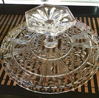 Crystal Cake stand and lid