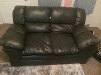 Nice Smokey Black 2 piece Leather Couch for sale  Tulsa, 74133