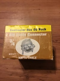 Cable connector 3/4 contractor box of 50 new unopened