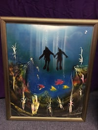 Scuba Divers Framed Picture St Peters