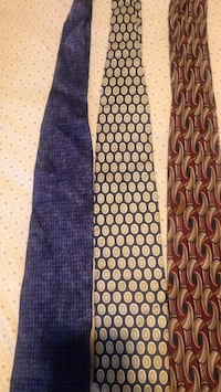 3 men's 100% silk ties / Louis Roth/Henry Grethel/Firenze Italy Pearl, 39208
