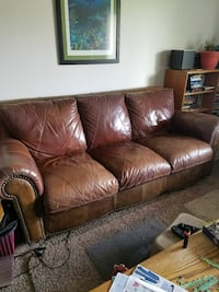 1 couch leather sold 90 obo