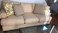 "80"" creamy golden yellow 3-seat sofa Centreville, 20120"