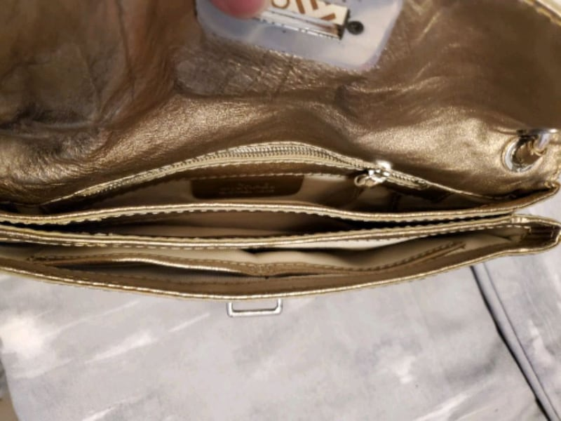 Michael Kors gold purse  5