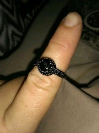 Black wemens engagement ring really pretty Searcy