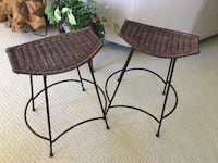 Stools. Metal and rattan  Oshawa