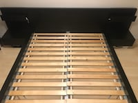 Queen Ikea Malm Bedframe with Side Tables and Slats Vancouver, V6A 4J6