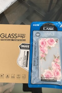 Black berry z10 case and glass protector  Milton, L9T 7M9