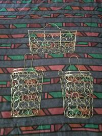 Decorative silver wire baskets.very complimenting. Capitol Heights, 20743