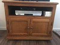 Solid oak TV stand  Knoxville