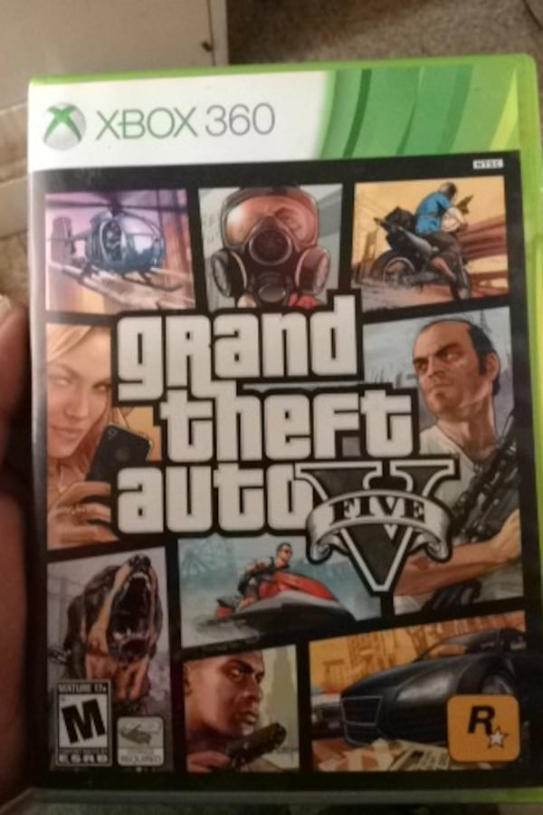 Grand Theft Auto Five Xbox 360 game case d8e49532-a86a-4562-95d3-97c40b569f52
