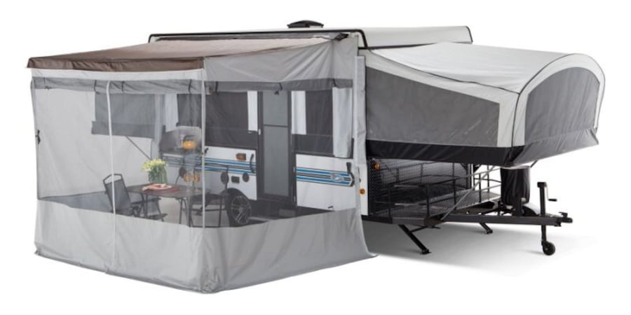 Jayco Awning screen the is a wrap around screen for Jayco tent trailers. 07b198dc-de89-428b-a8fb-0db12d84d008