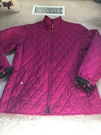 Lands end quilted woman jacket size small 6-8 Baltimore, 21221