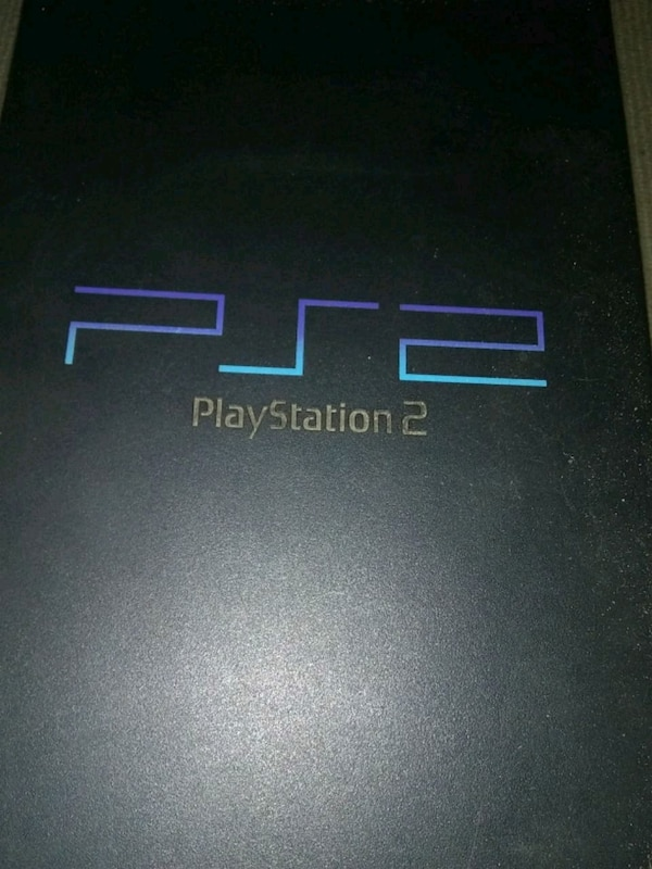 black Sony PS2 console