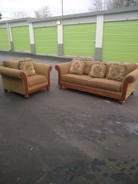 Couch and chair set must go!!!  College Park, 20740
