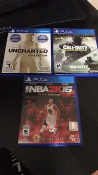 3 PlayStation 4 games for $30 barely used brand new,modern warfare code already used Vaughan, L6A 2Z5