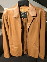 Giotto brown leather jacket. 50 obo Rockville, 20851