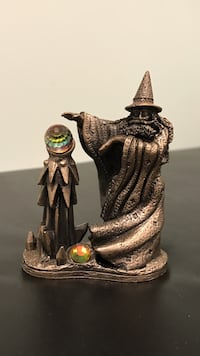 Pewter wizard with crystal  Oyster Bay, 11714