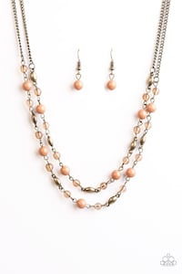 beaded beige necklace with hook earrings set Oxford, 19363