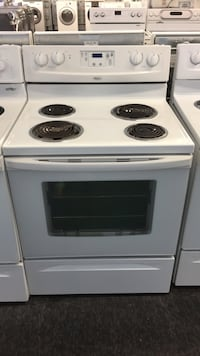 white and black electric coil range oven Toronto, M3J 3K7