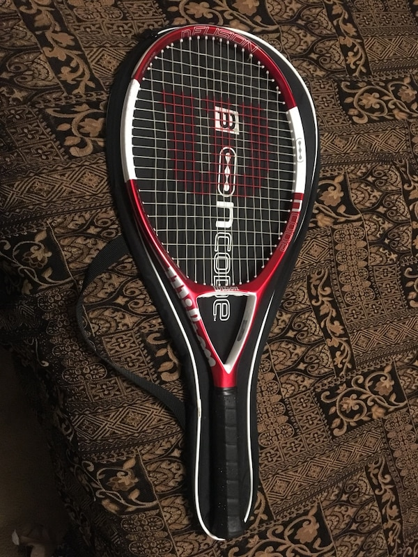 new arrival cheap price outlet store sale Wilson Ncode N Fusion OS Oversize 4 5/8 grip Tennis Racquet Nanotechnology