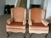 Two Dusty Rose Chairs $100for both Saint Thomas, N5R 6C3
