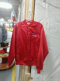 red zip-up jacket 545 km
