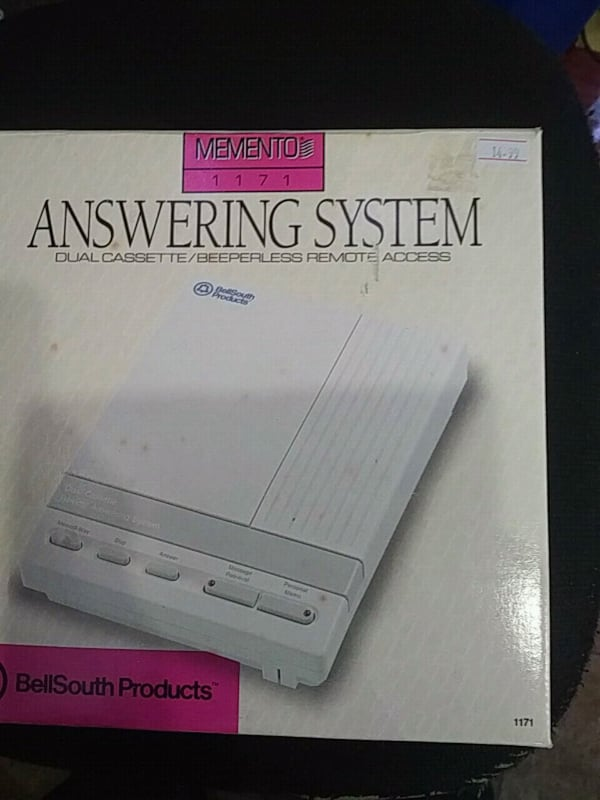 Brand new answering machine with dual cassette  6306078a-bf50-4382-b7fc-4b47d4c90fd3