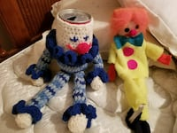 VINTAGE two assorted knitted dolls North Canton, 44721