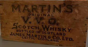 Vintage wooden whiskey crate