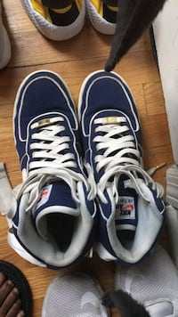 pair of blue-and-white Nike running shoes Chicago, 60643