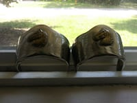pair of silver heals for boots Biloxi