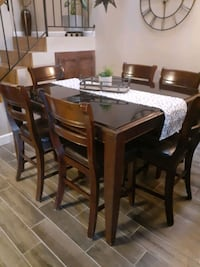 6 high chair dining set