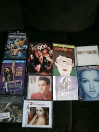 Movies DVDs, music CDs