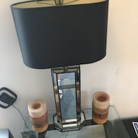 Black and glass lamp $25 Los Angeles, 90042