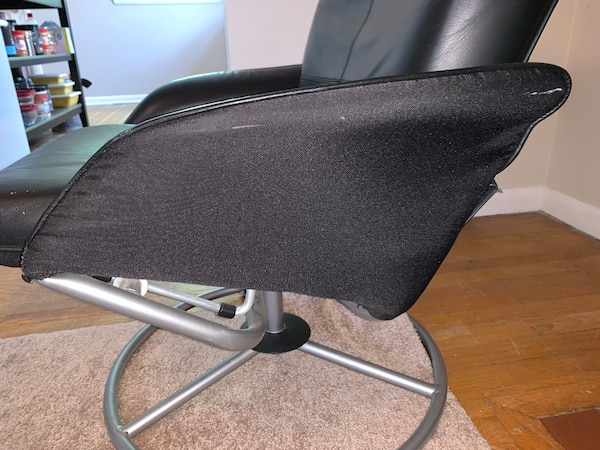 IKEA recliner-black leather 7