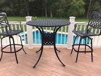 Black tall table only, 48 inch round have glass for top Nokesville, 20181