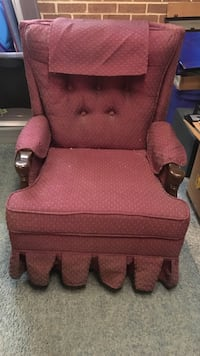 red and brown fabric sofa chair Auburn, 17922