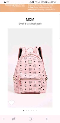mcm small backpack brand new condition  Delta, V4C 8G4