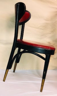 black and red wooden chair Stafford, 22554