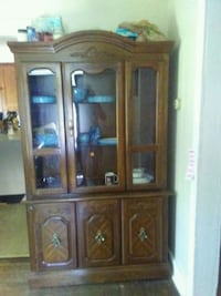 brown wooden framed glass display cabinet Phoenix, 13135