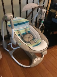 baby's white and blue cradle and swing Woodbridge, 22193