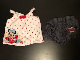 Like new 0-3m Minnie Mouse outfit