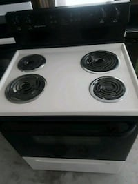 white and black 4-coil electric range oven Clearwater, 33761