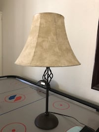 black metal base with beige lampshade table lamp Glendale, 85308