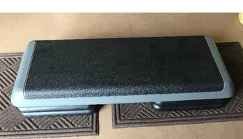 Steps w/ 4 risers- Gym quality perfect workout  accessory