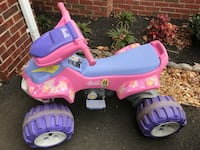 Pink and blue Barbie ATV ride-on toy 27 km